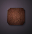 Wooden texture icon stylized like mobile app vector image vector image