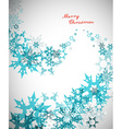 Christmas background with turquoise snowflakes and vector image