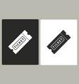 ticket - icon vector image