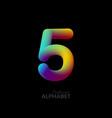 3d iridescent gradient number 5 vector image vector image