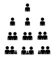 a group people or groups users friends flat vector image