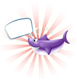 A shark with an empty callout vector image vector image