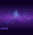 abstract financial big data graph vector image vector image