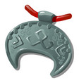 ancient silver pendant with slavic symbol in the vector image vector image