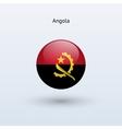 Angola round flag vector image