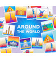 around world - line travel vector image vector image