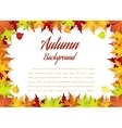 Autumn Frame With Falling Maple Leaves vector image vector image