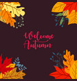 autumn sale concept design with flat leaves vector image vector image