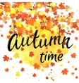 Autumn time lettering banner vector image