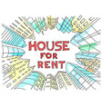 background for text on the rental of real estate vector image vector image