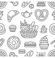 bakery seamless pattern food background of vector image vector image