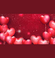 beautiful background with heart shaped air vector image vector image