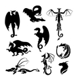 Big set of dragons vector image vector image