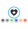 cardiology rounded icon vector image vector image