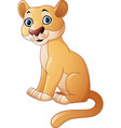 cartoon feline isolated on white background vector image vector image