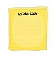 cartoon to do list vector image