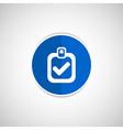 checkmark icon test form mark tick check vector image vector image