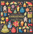 christmas background with 3d paper cut signs cute vector image vector image