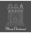 Christmas fireplace and socks isolatedon vector image vector image