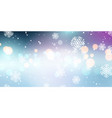 christmas snowflakes and bokeh lights banner vector image vector image