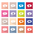 Collection of 16 Thought Bubbles Icons Banner vector image vector image