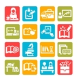color education icons vector image