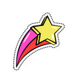 colorful fashion sticker with falling yellow star vector image vector image