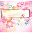 colorful flower frame vector image vector image