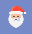 cute santa claus emoticon flat design vector image