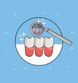 dental care and hygiene vector image