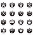 Diet and fitness theme icons set vector image vector image