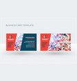 double-sided creative business card template vector image vector image