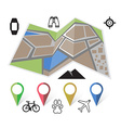 flat location icon vector image