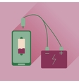 Flat web icon with long shadow mobile charging vector image vector image