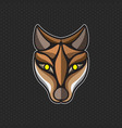 fox logo design template fox head icon vector image vector image