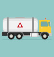 gas truck flat vector image vector image