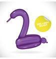 Glossy Balloon Swan vector image