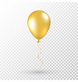 gold balloon on transparent background realistic vector image