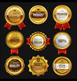 gold sale badges premium golden emblem luxury vector image