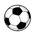 graphic of a soccer ball vector image vector image
