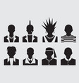 hipsterpunk emo rockstar and prisoner avatar vector image