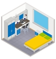 isometric children room icon vector image