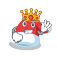 king christmas hat character cartoon vector image