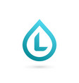 letter l water drop logo icon design template vector image vector image