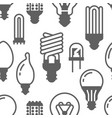 light bulbs seamless pattern with flat glyph icons vector image vector image