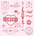 Love graphic symbols vector image vector image