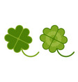 lucky clover for patricks day vector image vector image