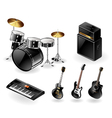 Modern musical instruments vector image vector image