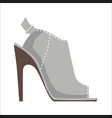 mules shoe with high heel isolated vector image vector image