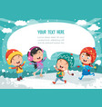 of winter scene vector image